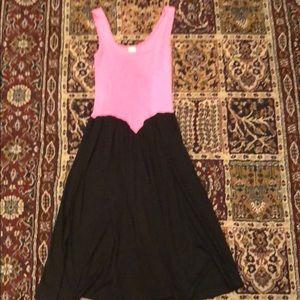 Vintage Black and Pink Summer Dress